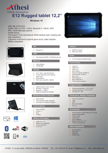 E12 Rugged tablet 12,2""