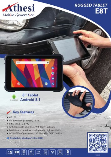 E8T Rugged tablet 8""