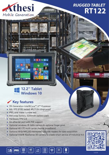 RT 122 Rugged tablet 12.2''
