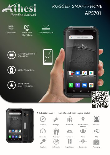 Rugged Smartphone - Athesi Professional - AP5701