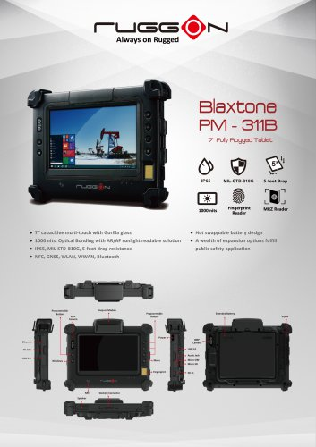 "PM-311B 7"" Fully Rugged Windows Tablet"