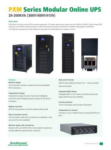 20-200kVA PXM Series Modular UPS