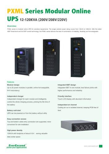 208V & 120V On-line UPS 12-120kVA PXML series