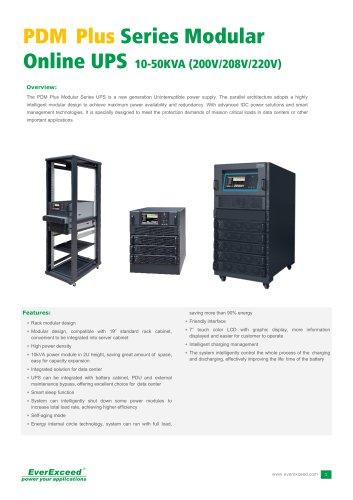 208V & 120V Parallel UPS 10-50kVA PDM Plus series