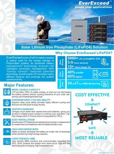 Battery system for solar applications EP-48200