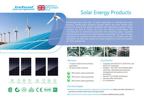 EverExceed Solar Energy Product