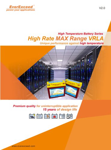 High-temperature battery HRM-12 series
