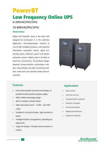 Industrial On-line UPS 6-20kVA PowerBT series
