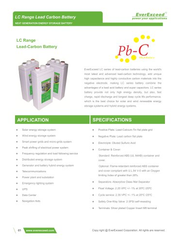 Lead-carbon battery LC 2 series