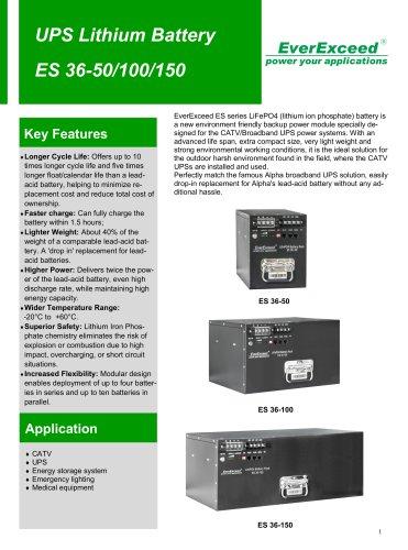 LiFePO4 battery ES 36 series