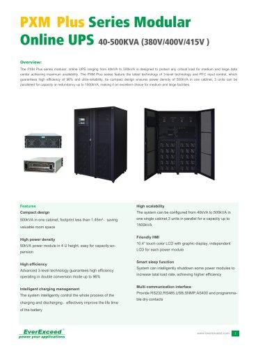 Modular UPS PXM PLUS series