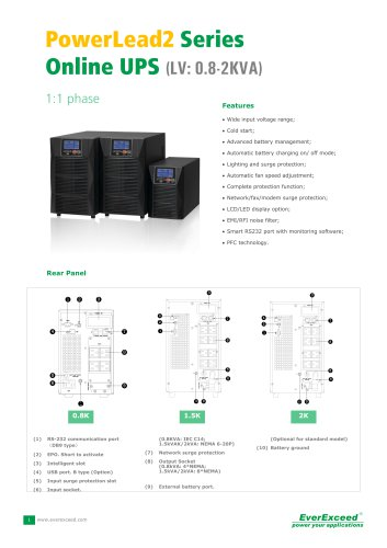 Parallel UPS 4-12kVA PowerLead2 series