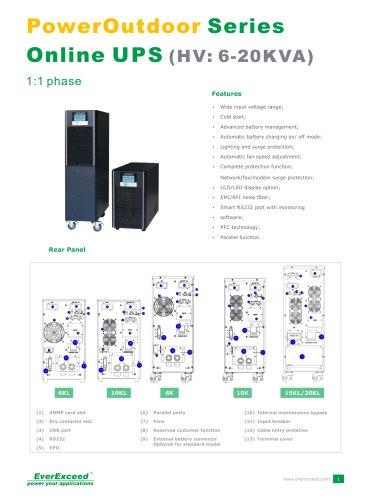Single phase Online UPS 6-20kVA PowerLead2 Series
