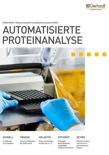 DUMATHERM - Automatisierte Proteinanalyse
