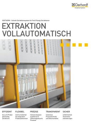 SOXTHERM® - Extraktion vollautomatisch
