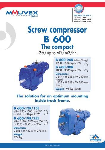 B600 Screw Compressor