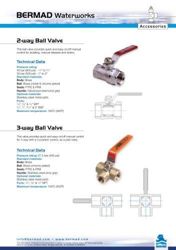 2-Way Ball Valve Data Sheet