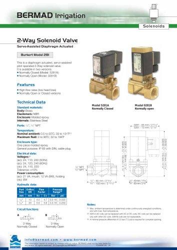 2 Way Solenoid Valve Burkert Model 281 Data Sheet