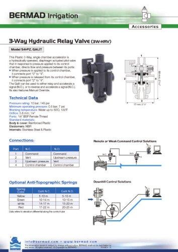 3 Way HRV 54-PZ GALIT Data Sheet