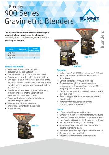 Blenders 900 Series Gravimetric Blenders