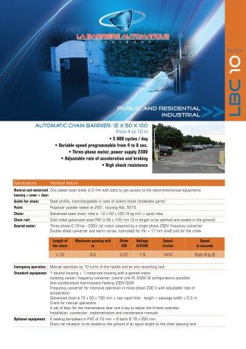 LBC 10 (Automatic chain barrier: 12 x 50 x 100)