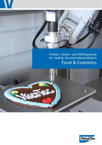 Food & Cosmetics: Entleer-, Dosier- und Abfüllsysteme für niedrig- bis hochviskose Medien