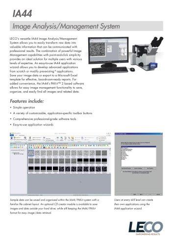 IA44 Image Analysis & Management System