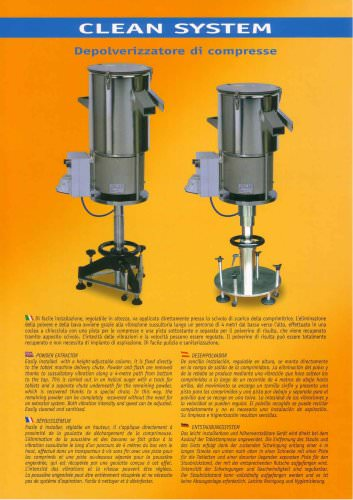 CLEAN SYSTEM tablets deduster machine