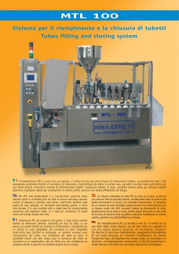 MTL-100 automatic tube filling machine