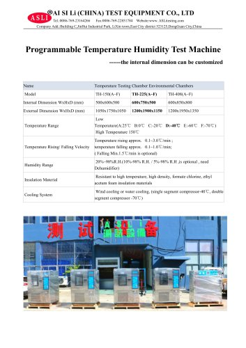 climatic test cabinet / humidity and temperature / alternating TH-225-D