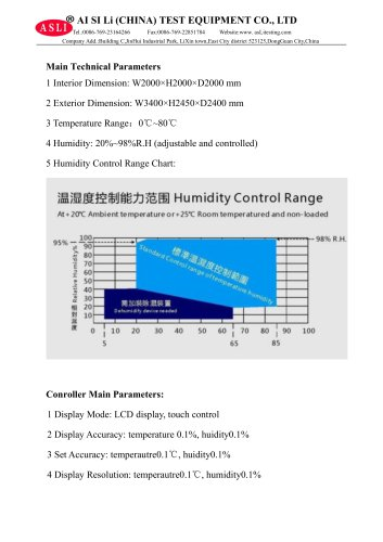 humidity and temperature test chamber / aging / constant climate / with temperature and climatic control THR-8000-B