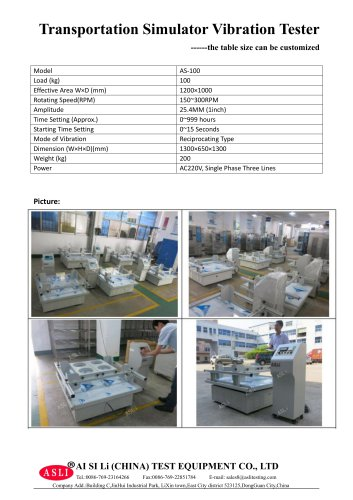 vibration test equipment / materials / for solar cells / for printed circuits AS-100