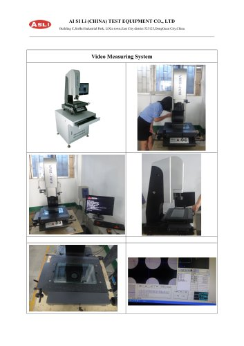 Video Measuring System Detail