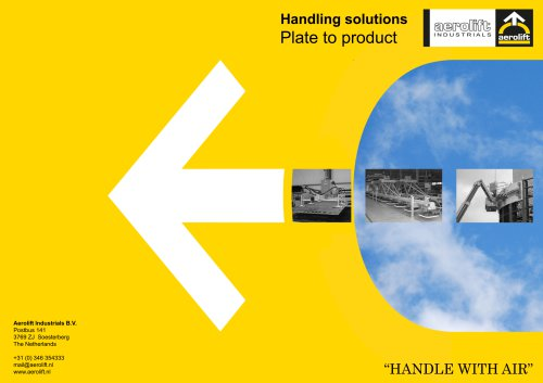 Plate to product brochure Aerolift