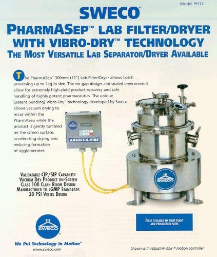 PH12 PharmASep Filter Dryer