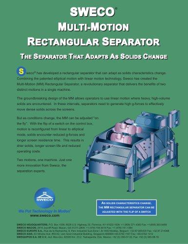 Sweco Multi-Motion Rectangular Separator