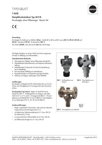 Dampfdruckminderer Typ 44-0 B