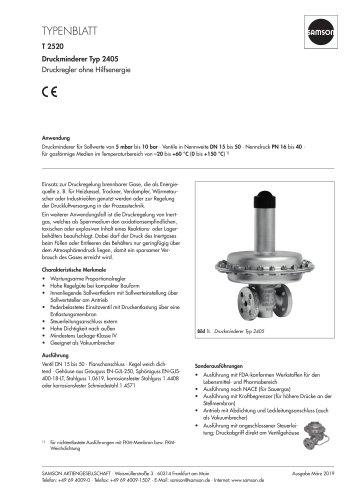 Druckminderer Typ 2405