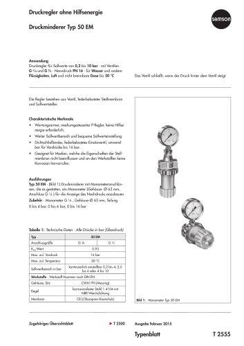 Druckminderer Typ 50 EM