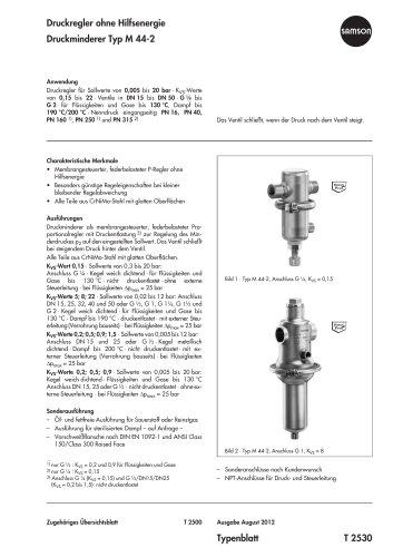 Druckminderer Typ M 44-2