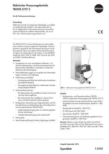 Elektrischer Prozessregelantrieb TROVIS 5757-3