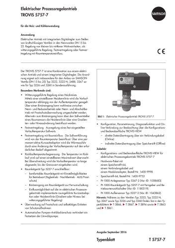 Elektrischer Prozessregelantrieb TROVIS 5757-7