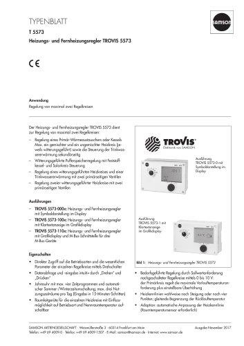 Heizungs- und Fernheizungsregler TROVIS 5573