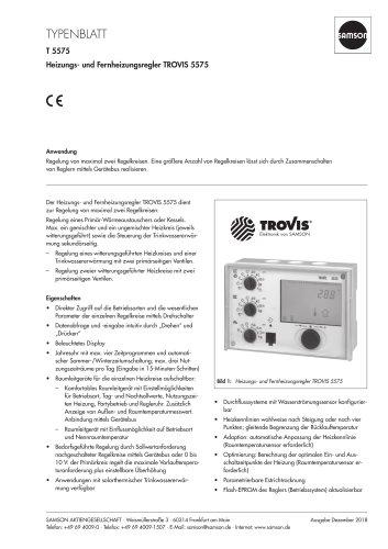 Heizungs- und Fernheizungsregler TROVIS 5575