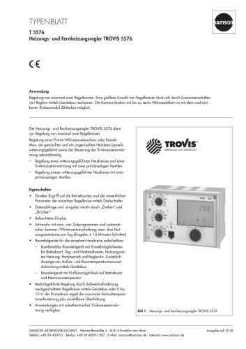 Heizungs- und Fernheizungsregler TROVIS 5576