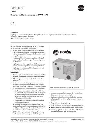 Heizungs- und Fernheizungsregler TROVIS 5578
