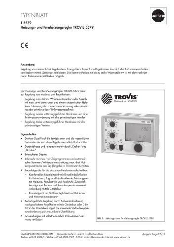 Heizungs- und Fernheizungsregler TROVIS 5579