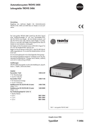 Leitungsteiler TROVIS 5486