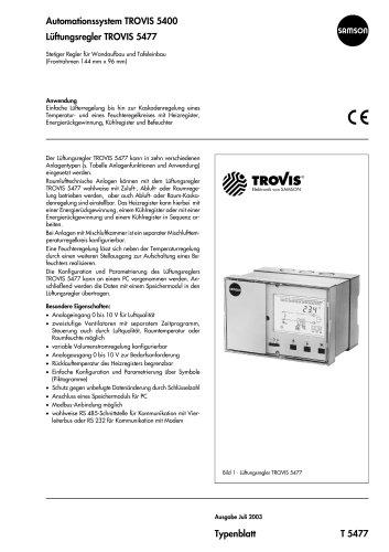 Lüftungsregler TROVIS 5477
