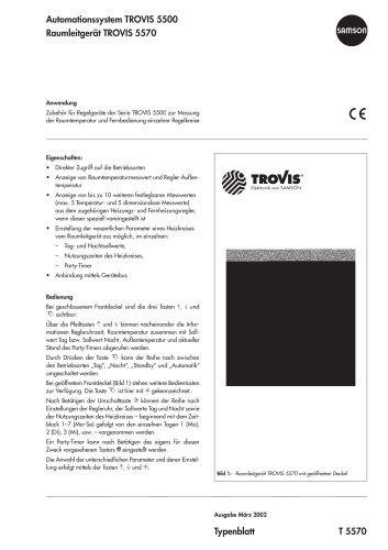 Raumleitgerät TROVIS 5570